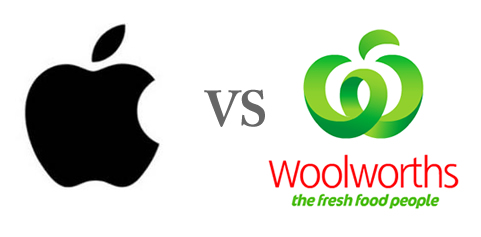 applewoolworths Apple vs woolworths|ロゴ合戦