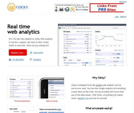 20101001 01 520x436 たまには違うアクセス解析を|Clicky