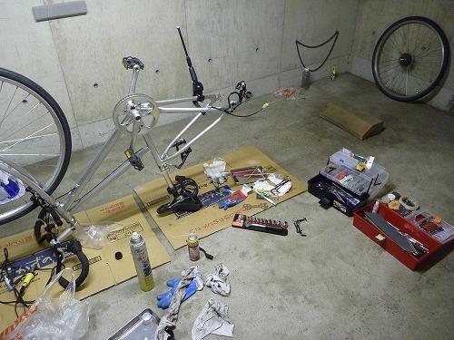 P10104361 オーバーホール中|自転車