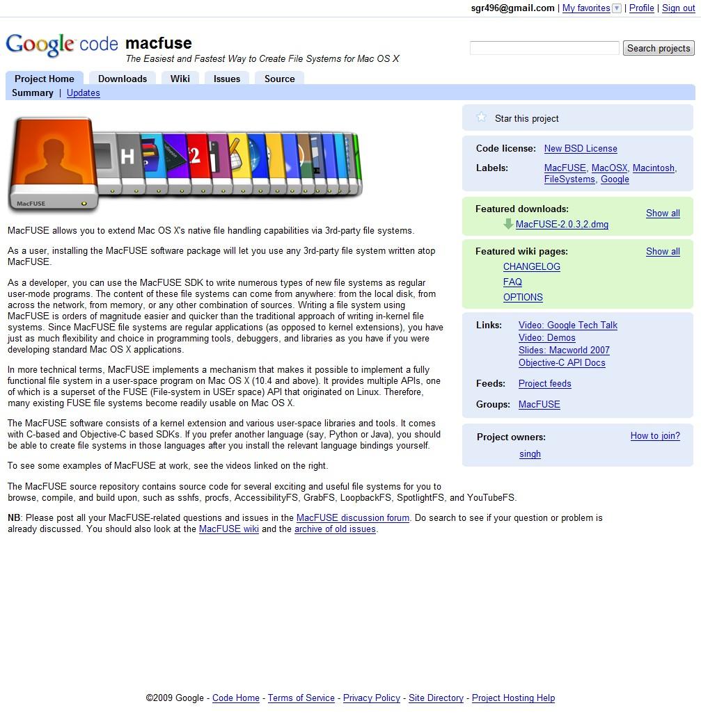 macfuse Google Code Mac OSでマウントしたNTFSディスクへの書き込み|バックアップ